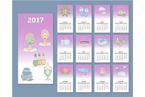 Thai massage monthly calendar 2017
