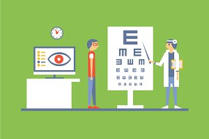 Ophthalmologist cabinet