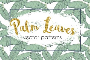 Tropical palm leaves patterns