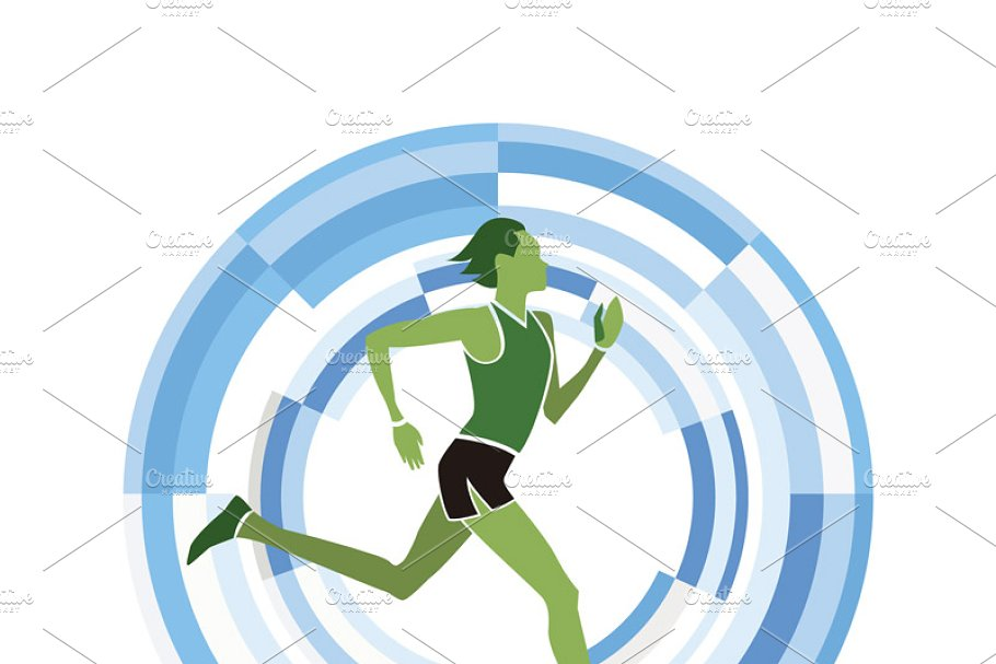 Sports disciplines illustrations in Illustrations - product preview 2