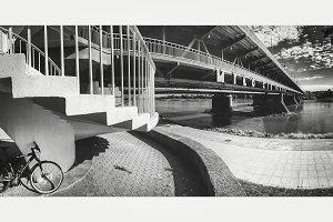 Bicycle under bridge