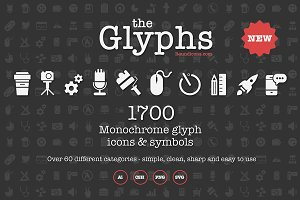 The Glyphs 1700 icons & symbols
