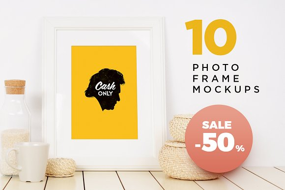 Download -50% Sale. Photo frame mockups