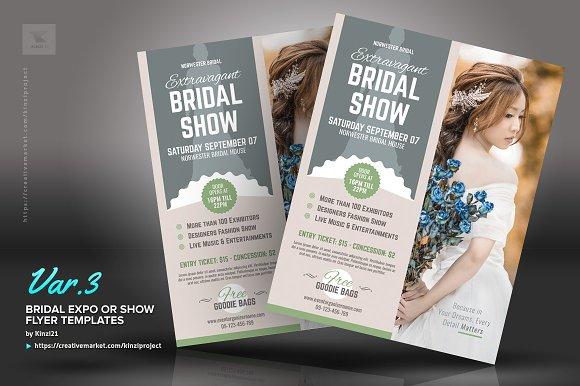 bridal expo or show flyer template flyer templates creative market