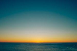 last light on the sea