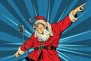Santa Claus superstar singer