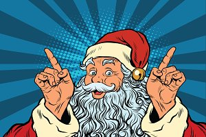 Santa Claus gesture attention