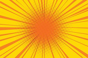 sun comic book retro pop art