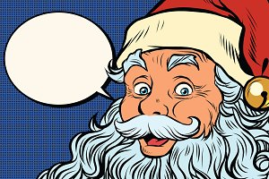 Santa Claus tells comic bubble