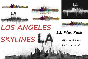 12x Files Pack Los Angeles Skylines
