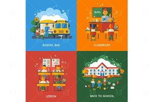 School Flat Concepts