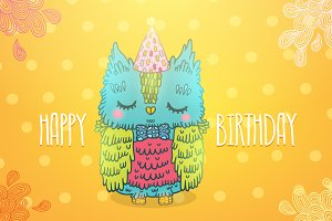Happy Birthday. Owl.