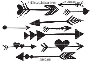 Arrows Clipart Set & Bonus Brush Set