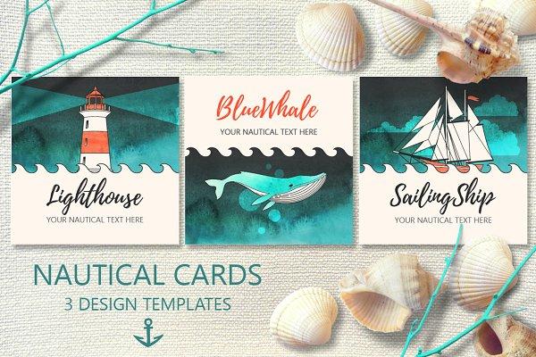 Nautical Cards Templates