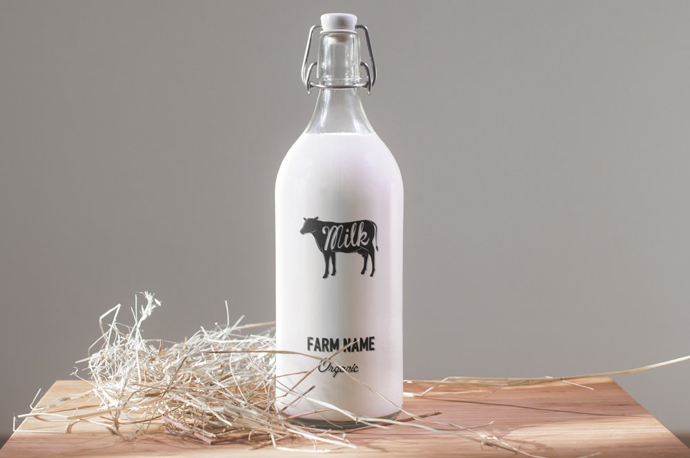 Milk Bottle Mock Up 3x Product Mockups Creative Market