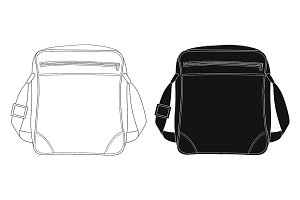Shoulder bag. Vector
