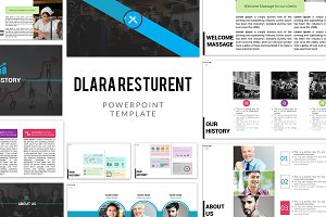 Dlara Restaurant PowerPoint Template