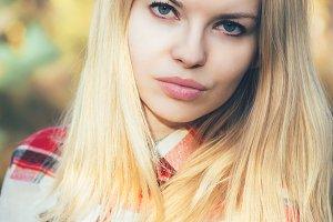 Young Woman Face Portrait Blonde
