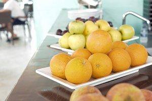 Fresh fruits on breakfast