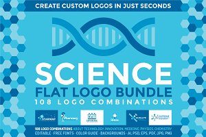 Science: 108 Flat Logos Bundle
