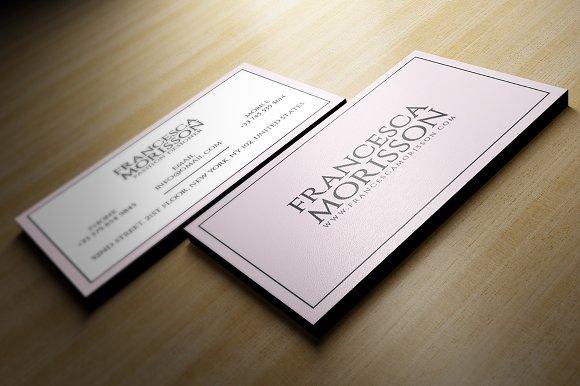 Feminine business card business card templates creative market colourmoves Gallery
