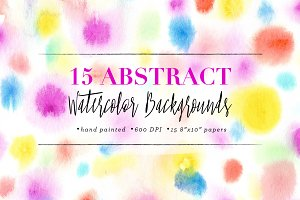 Abstract Watercolor Backgrounds