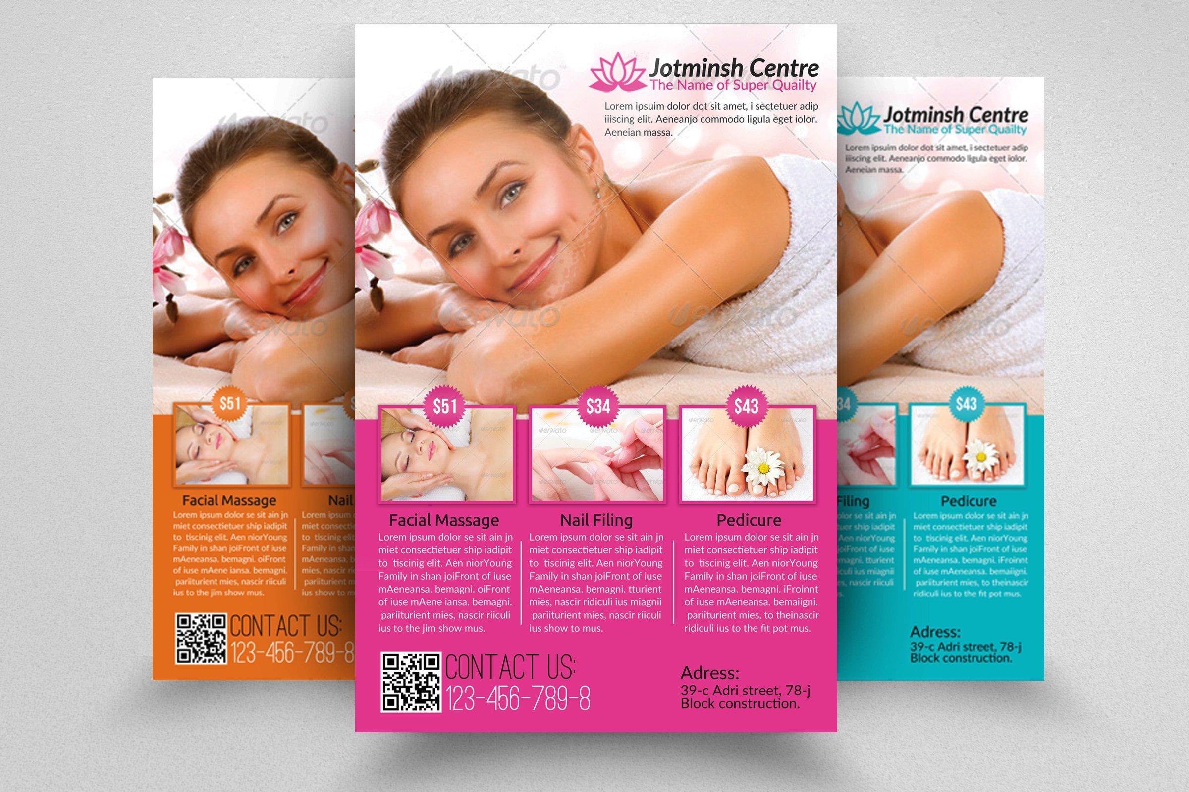 beauty brochure templates free - spa beauty flyer template flyer templates creative market
