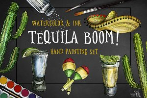Tequila Boom Watercolor & Ink Set
