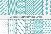 Modern geometric seamless patterns.