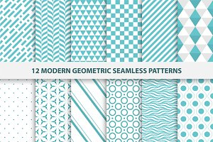 Modern geometric seamless patterns.