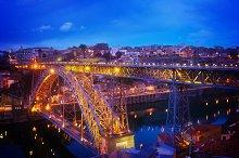 old Porto at night, Portugal