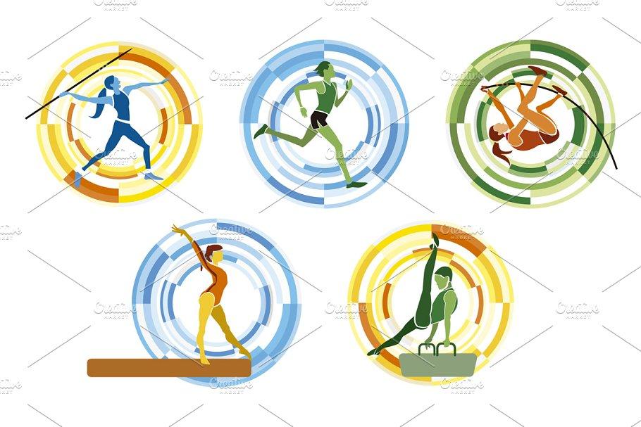 Sports disciplines illustrations in Illustrations