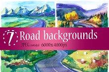 Watercolor road
