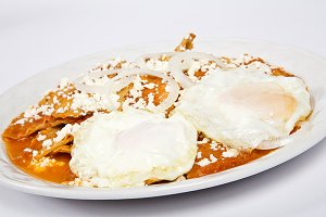 chilaquiles with cheese