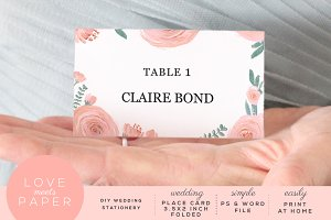 Table Name Place Card PC2025