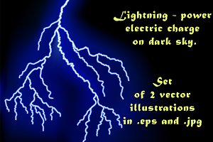 Lightning - power electric charge.
