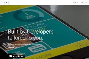 Premium App Landing Page