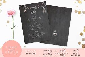 Wedding Menu M1018