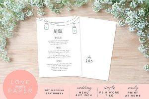 Wedding Menu M1017