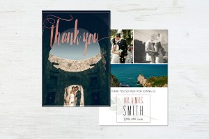 Wedding Thank You Template   Roses