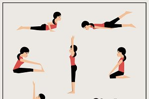 Set of asanas
