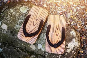 Japanese Traditional Wooden Shoes