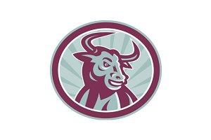 Texas Longhorn Bull Retro