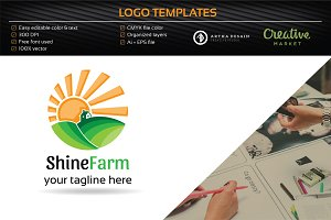 Shine Farm Logo - Logo Templates
