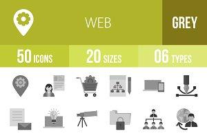 50 Web Greyscale Icons