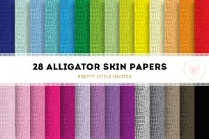 Alligator Print Digital Paper Pack
