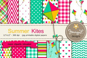 Kite Digital Papers and CLipart