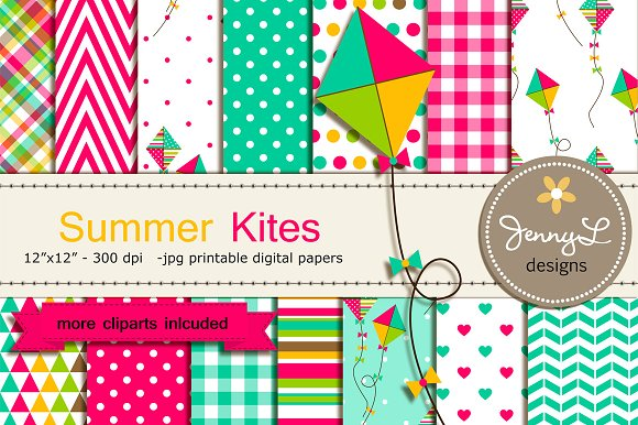 Kite Digital Papers and CLipart - Patterns