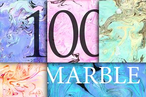 100 Marbled textures