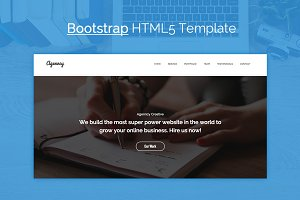 Agenncy - OnePage Bootstrap Template